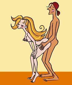 Секс в позе стоя
